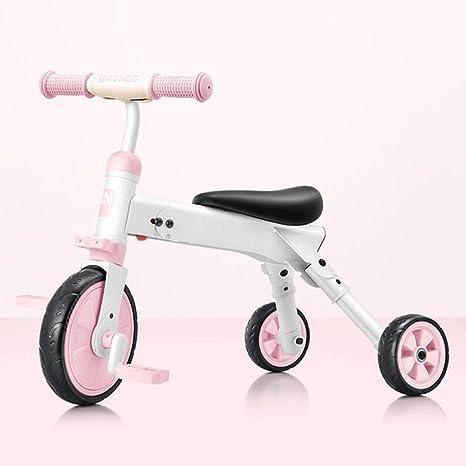 Triciclo de niños se puede plegar 1-3 años de edad Bicicleta Cochecito de bebé
