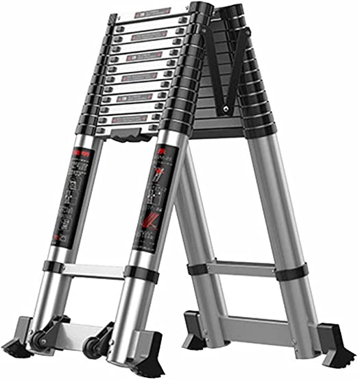 LJSJT Escalera Plegable de Aluminio Escalera de Marco Escalera de ingenieria Conveniente para el Trabajo al Aire Libre Fácil de Cargar Capacidad de Carga 330 lbs. Altura 3.1 + 3.1m: Amazon.es: Hogar