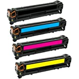 HQ Supplies © Remanufactured Replacements for HP 305A HP CE410A CE411A CE412A CE413A Toner Cartridge Set (Black, Cyan, Yellow, Magenta) for use in HP LaserJet Pro 300 color MFP M375nw, HP LaserJet Pro 400 color Printer Series M451dw, M451dn, MFP M475dn, MFP M475dw Printers