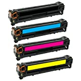 HQ Supplies Compatible Replacements for HP 305A HP CE410A CE411A CE412A CE413A Toner Set (Black, Cyan, Yellow, Magenta) for use in HP MFP M375nw HP M451dw M451dn MFP M475dn MFP M475dw Printers