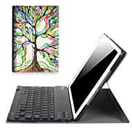 """Fintie iPad 9.7 Inch 2017 Keyboard Case - Slim Shell Stand Cover with Magnetically Detachable Wireless Bluetooth Keyboard for Apple iPad 9.7"""" 2017 Release Tablet, Love Tree"""