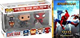 Spider-Man Hawkeye Figure & Homecoming DVD Movie Bundle Funko Bobble-Head & Keychain Multi Pack