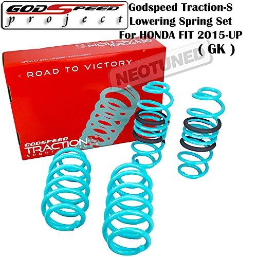 Godspeed (LS-TS-HA-0016) Traction-S Lowering Spring Set For Honda Fit 2015+ UP GK gsp set kit ()