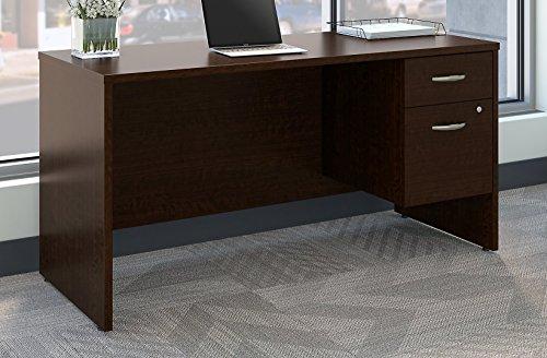 Bush Business Furniture SRC072MRSU Series C 60W x 24D Office Desk with 3/4 Pedestal, Mocha Cherry by Bush Business Furniture