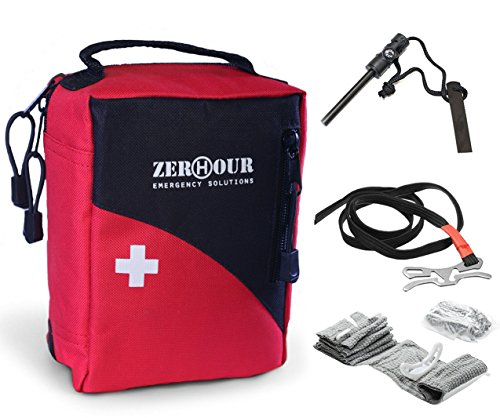 Individual First Aid Kit - Medical Kits for Survival, Camping, Emergency, Hiking, Boat, Home. Waterproof First Aid Kit With Tourniquet, Israeli Bandage, Fire Starter. Small IFAK for Family Adventure