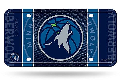 Rico NBA Minnesota Timberwolves Metal License Plate Tag by Rico