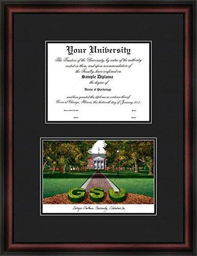 Georgia Southern University Diploma Frame & Lithograph Print by Landmark Publishing