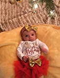 Christmas Baby Girl Clothes My 1st Christmas Costume with Headband & Bodysuit & Tutu Skirts Party Dresses Outfits Sets