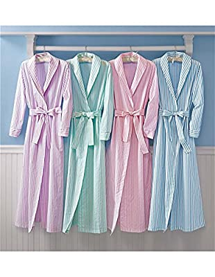 National Striped Wrap Robe - Flannel Misses