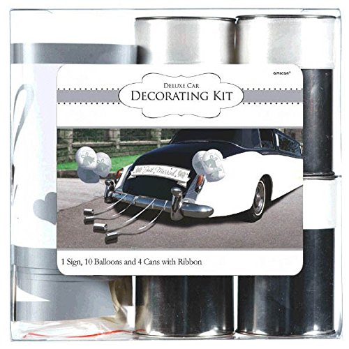Amscan 248896 Wedding Deluxe Car Decorating Kit Multi Sizes -