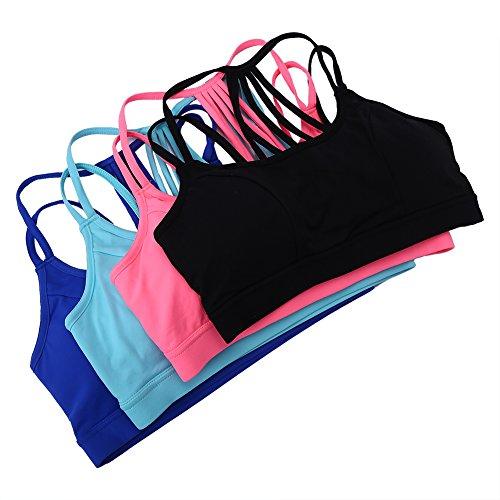 Entrenamiento Yoga Sujetador Sujetador para Mujer verde Deportivo Running 4BqABY