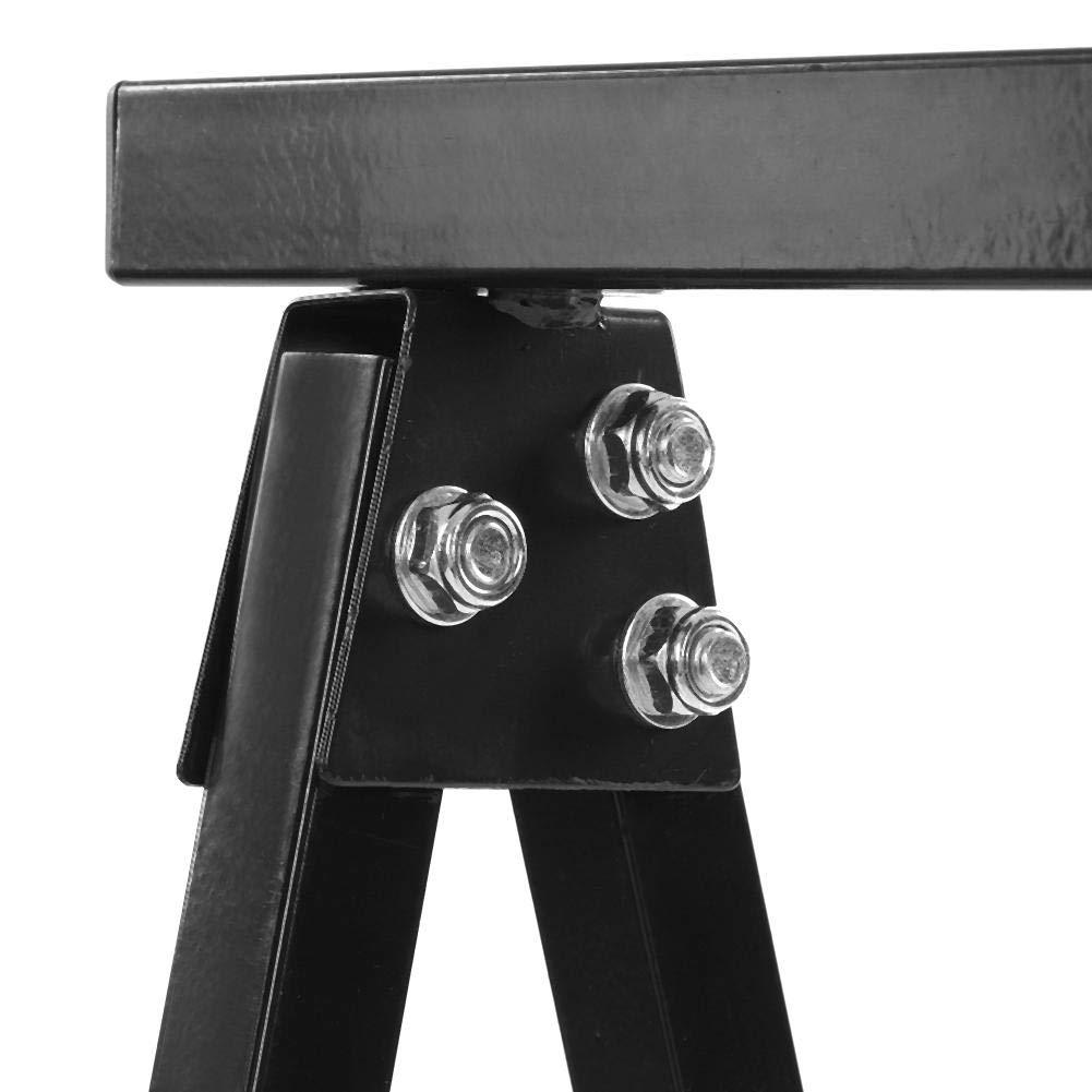 Coppia di Cavalletti Pieghevoli 2 pezzi Cavalletto in ferro Cavalletti da Lavoro portatile per Segare Capacit/à 100KG