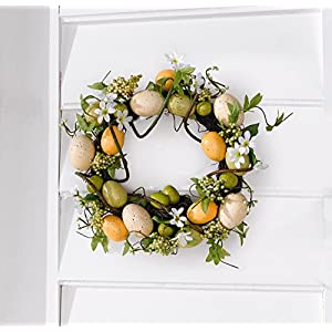 "Easter Wreath ""Spring Colors"" with Decorative Eggs, Flowers and Leaves Product SKU: HD222534 21"