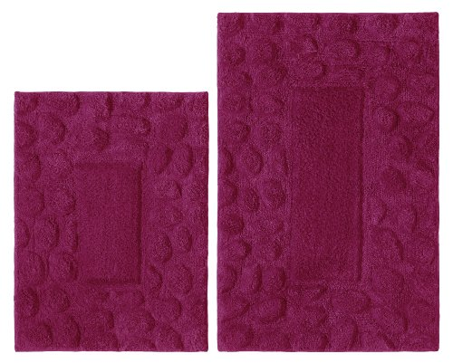 Cotton floor bathroom rug non slip bath shower absorbent for International decor bath rugs