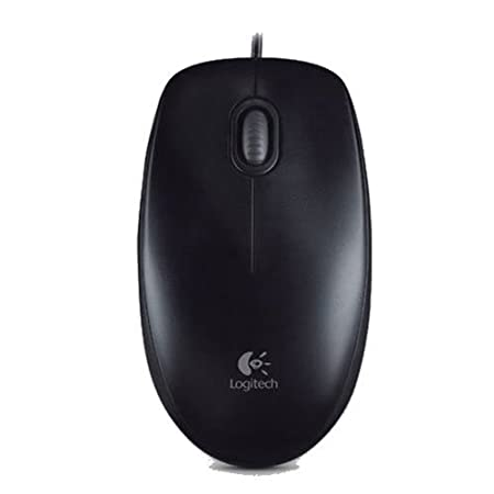 Logitech B100 Optical Mouse (Black)