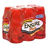 Ensure Plus Complete Balanced Nutrition Drink, Butter Pecan, Six-8 Fluid Ounces Bottles