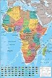 "Poster 61 x 91.5 cm - ""Afrika-Karte"""