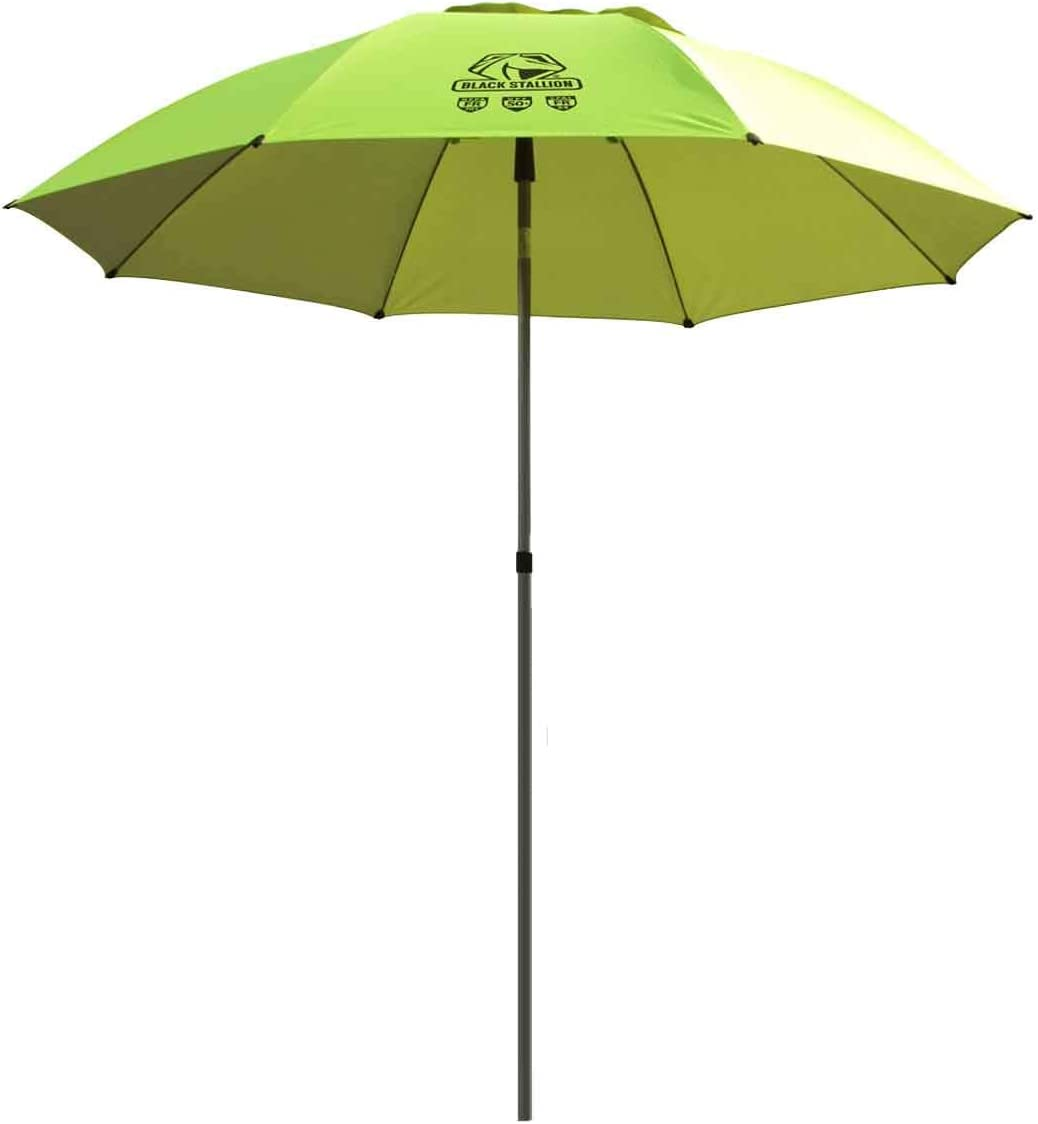 Black Stallion UB200 Core Flame-Resistant Industrial Umbrella, Hi-Vis Yellow Lime