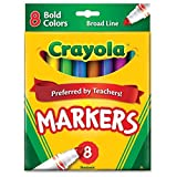 Crayola 8ct Broad Markers Bold Case of 24 Packs