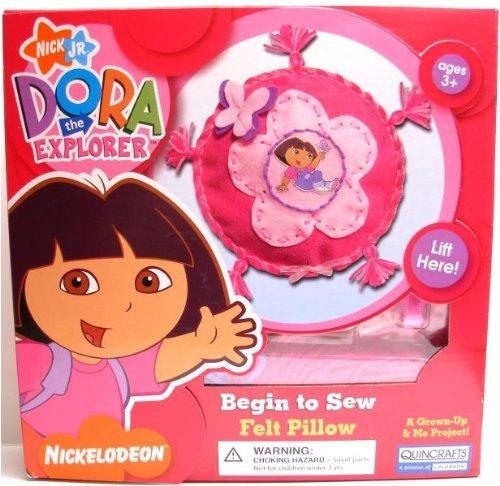 Kids Dora the Explorer Begin to Sew Felt Pillow Kit by Dora the Explorer B002QYC308
