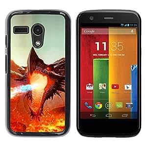 Be Good Phone Accessory // Dura Cáscara cubierta Protectora Caso Carcasa Funda de Protección para Motorola Moto G 1 1ST Gen I X1032 // Fierce Smaug Fire Dragon