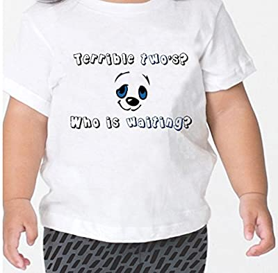 Little Panda Terrible Two's? Who Is Waiting? Toddler Kid T-shirt Tee 6mo Thru 7t