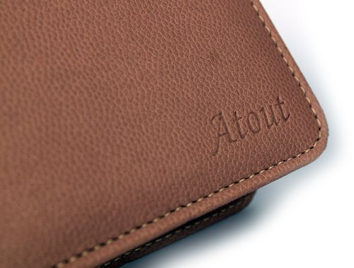 Atout Premium Vintage Synthetic Leather Cover Case [Brown] for LG PD239 Pocket Photo Printer Case Photo #8