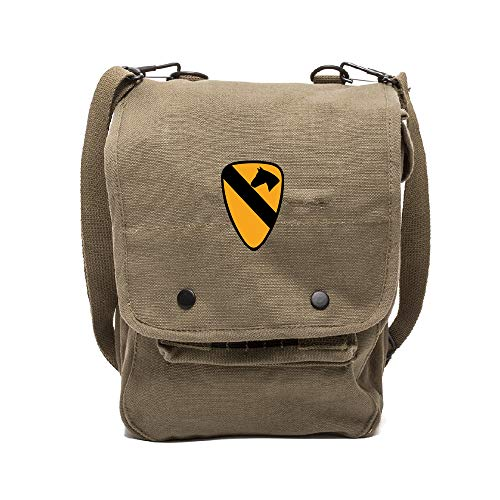 US Army 101st Airborne Division Crossbody Travel Hard Back Map Bag Case, Olive