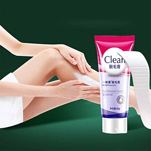 Hunputa Women Men Permanent Hair Removal Cream For Bikini Underarm Leg Depilatory