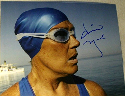 DIANA NYAD SIGNED AUTOGRAPH HISTORICAL MARATHON SWIM VERY RARE 8X10 PHOTO COA