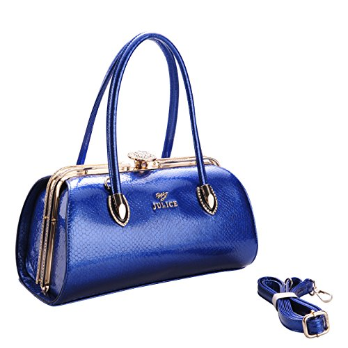 JULICE Leather Women's Handbag with Diamond for Any Occasion Blue