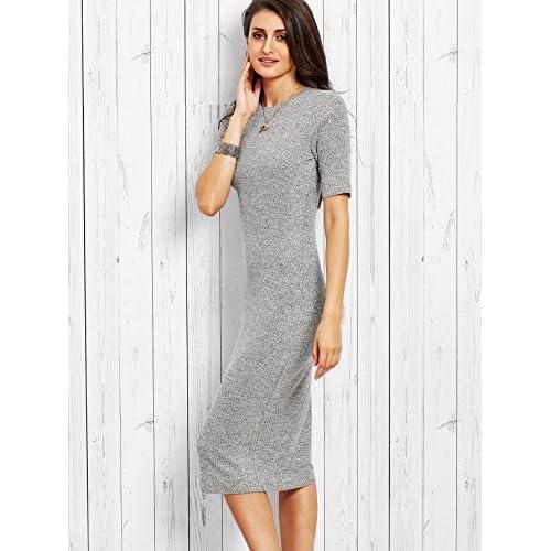 d6f21846 SheIn Women's Short Sleeve Elegant Sheath Pencil Dress 85%OFF ...