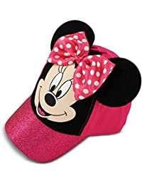 Little Girls Minnie Mouse Bowtique Cotton Baseball Cap, Pink, Age 4-7