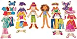 T.S. Shure Daisy Girls Wooden Magnetic Dress-Up Dolls