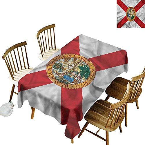 Sillgt Rectangular Tablecloth American State of Florida Flowers Party Decorations Table Cover Cloth 50