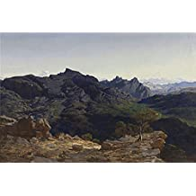 Oil Painting 'Munoz Degrain Antonio Paisaje De La Sierra De Las Agujas Tomado Desde La Loma Del Caball V 1864 ' Printing On Perfect Effect Canvas , 8 X 12 Inch / 20 X 31 Cm ,the Best Wall Art Decoration And Home Decor And Gifts Is This Cheap But High Quality Art Decorative Art Decorative Prints On Canvas