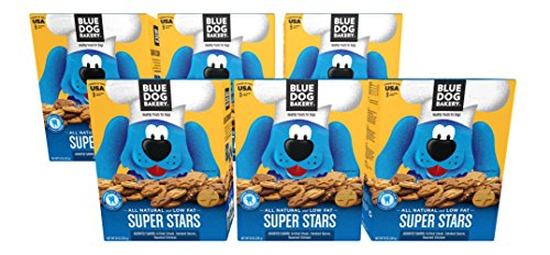 Blue Dog Bakery Dog Treats | All-Natural | Low-Fat | Assorted Flavors | 10oz (Pack of (Star Bakery)