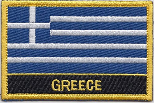 Greece Country Flag Embroidered Blazer Badge Patch