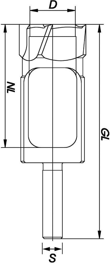 C 22 mm D Diam/ètre 8 mm ENT M/èches forstner WS Queue L 90 mm