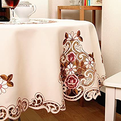 Exceptionnel MZPRIDE Modern American Country Style Vintage Handmade Table Cloth Round  Table Cloth Wedding Round Tablecloth
