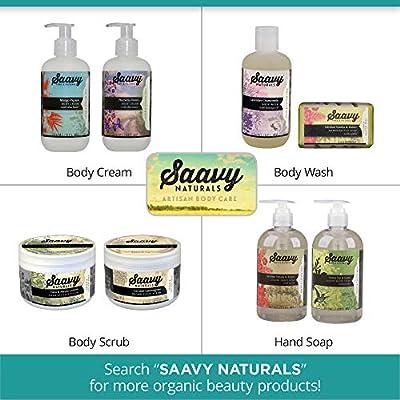 Saavy Naturals Liquid Hand Soap | Gluten-Free, Vegan & Organic Hand Soap | 2-Pack 12 oz