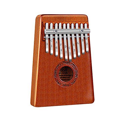 Mugig Kalimba Mbira Sanza 10 Keys Thumb Piano Pocket Size Beginners Friendly Supporting Kalimba Bag and Musical Notation