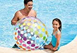 Intex Kids Backyard Teens Floating Floats Family For Adults Kids Outdoor Swimming Pool Floaty Lounger Party Floatie Swim Rings Backyard Beach Lake Float Toys Jumbo Glossy Panel Polka Dot Beach Ball