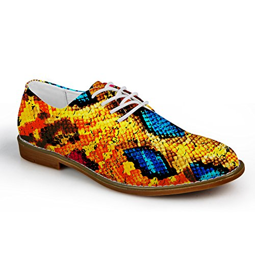 Hugs Idea Serpentine Pattern Mens Fashion Oxford Dress Shoes Serpentine Pattern 4