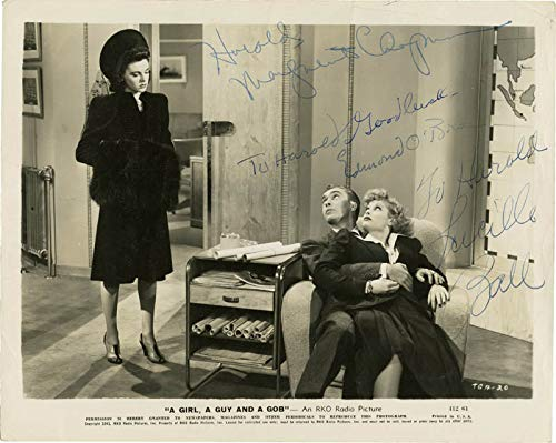 A Girl, A Guy And A Gob Movie Cast - Photograph Signed with co-signers (A Girl A Guy And A Gob)