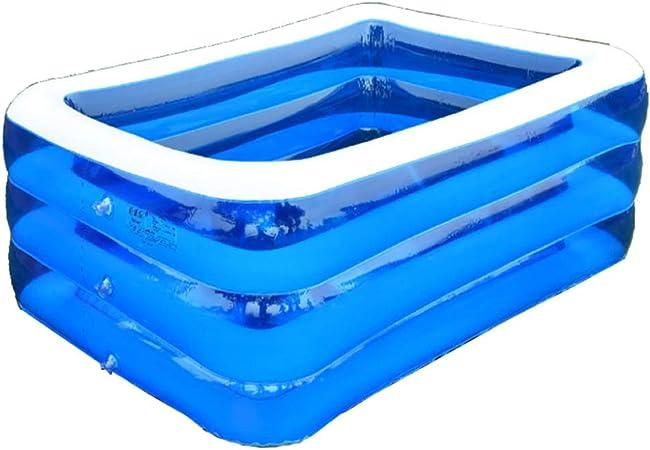 YIRUN - Piscina Hinchable para niños, Piscina Familiar, Piscina de Bolas Ocean para Adultos, bañera para niños, 3 Anillas/Azul Transparente, 210 x 150 x 68 cm: Amazon.es: Hogar