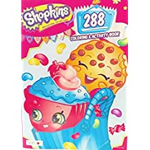 Shopkins 4 PC Gift set Includes 1 Season 5 Surprise Shopkin in Petkin Backpack Pack, 1 Shopkins's Coloring Book,1 Packet Of Crayons, 1 Draw String Bag to Keep All of Your Shopping Cart Friends