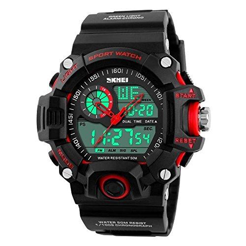 Amazon.com: Relojes de Hombre De Moda 2018 Reloj Sport LED Digital Military Para Caballeros RE0100: Watches