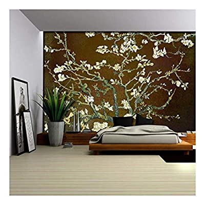 Gorgeous Artisanship, Original Creation, Copper with Rich Brown Almond Blossom by Vincent Van Gogh Wall Mural
