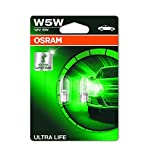 OSRAM ULTRA LIFE W5W halogen, license plate position light, 2825ULT-02B, 12 V passenger car, double blister (2 unit)